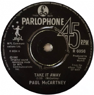"Paul McCartney ‎- Take It Away (7"") (G++/EX)"